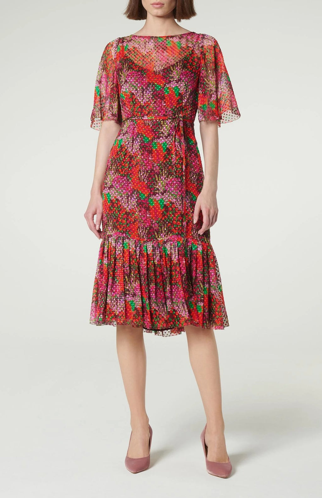 LK Bennett Silk Printed Midi Dress