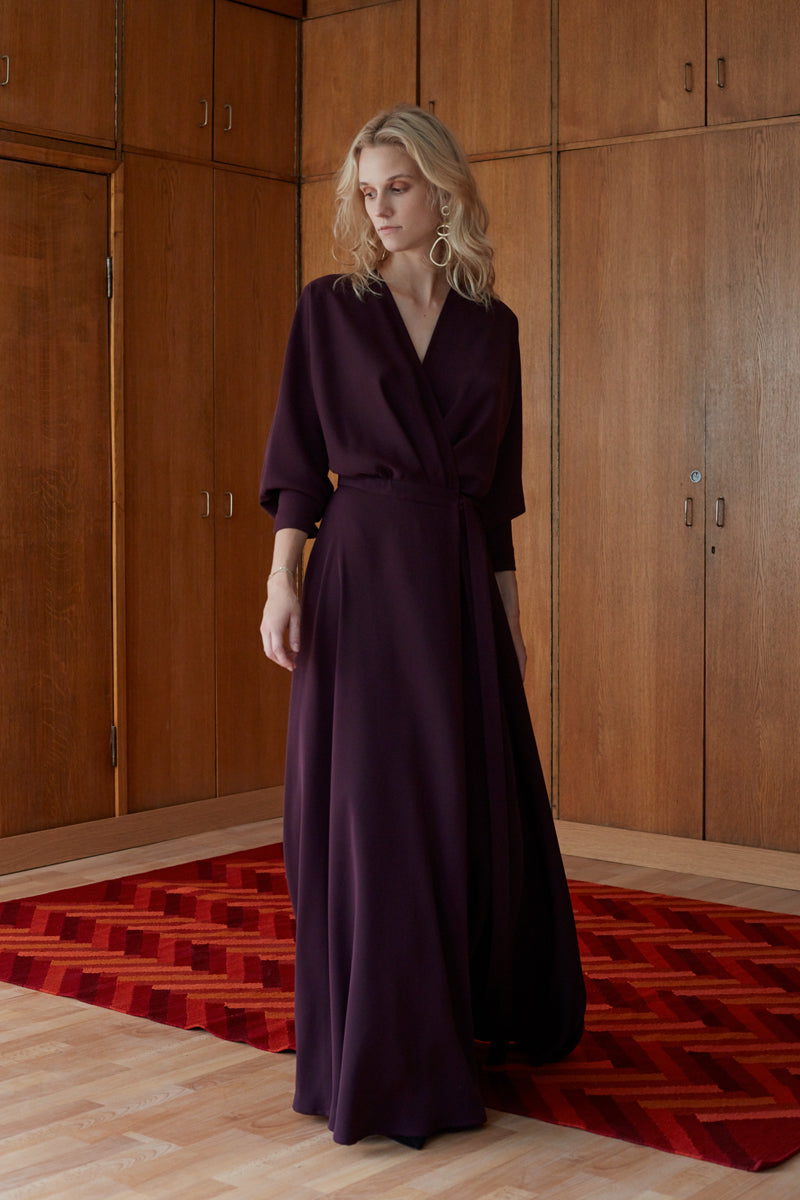 Undress Anoesis Long Burgundy Dress