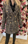 Jus De Pom Brown Tweed Blazer