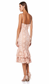 Jarlo Rosa Pink Lace Midi Dress