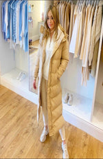 The Duvet Coat in Beige
