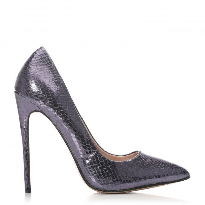 Moda in Pelle Calenda Purple Metallic Court Heel