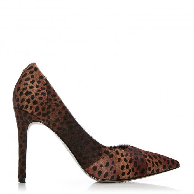 Moda in Pelle Caline Mini Leopard Pointed Court Heel