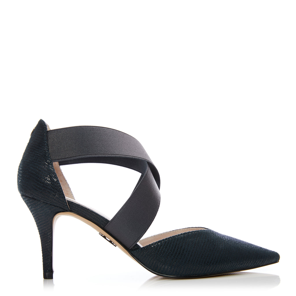 Moda in Pelle Chrelli Navy Low Heel Shoes