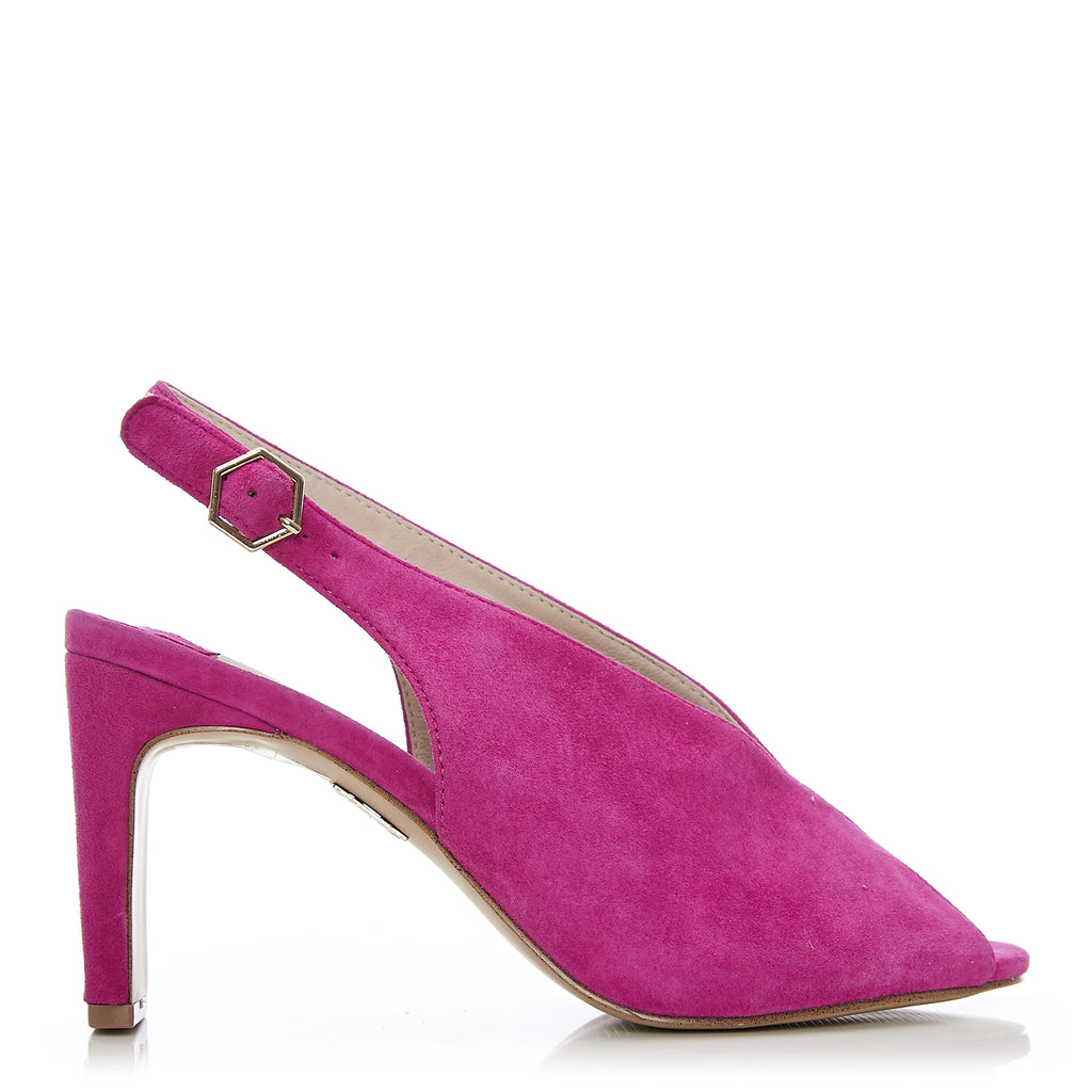 Moda in Pelle Chrissi Pink Mid Heel Shoe