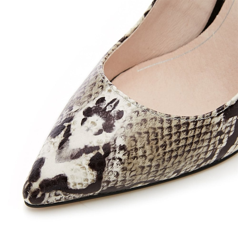Moda in Pelle Crimsa Natural Snakeskin Heel