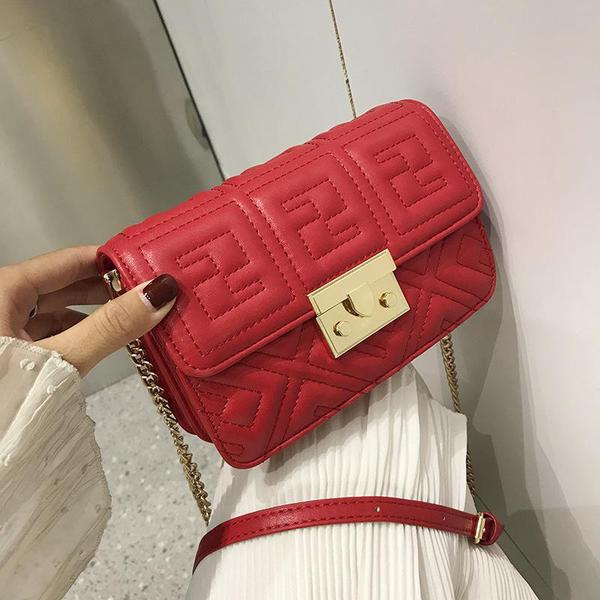 Small Cross Body Bag-Red