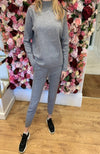 Exquiss Grey Polo Neck Lounge Set