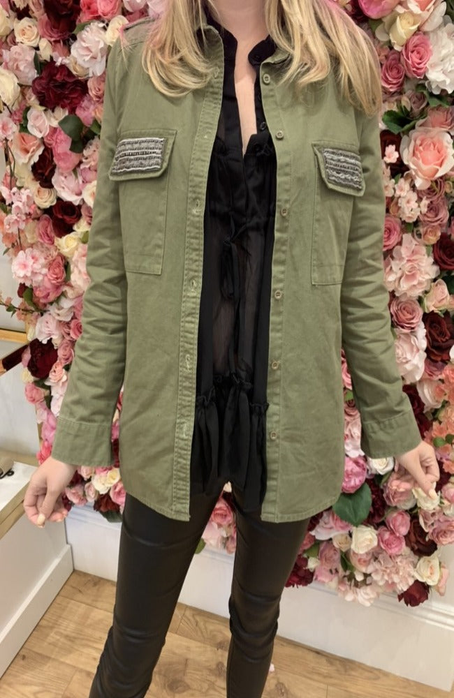 Ciminy Khaki Jacket with Pocket Detail