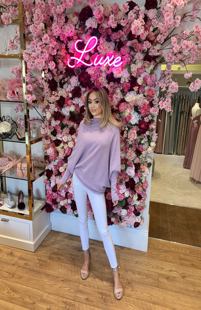 Lilac Slouch Jumper