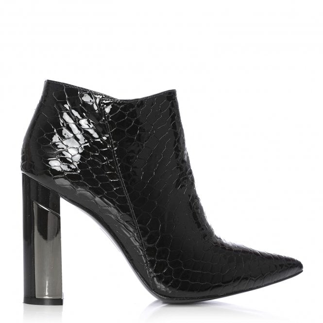 Moda in Pelle Lolian Black Patent Leather Pointed Boot