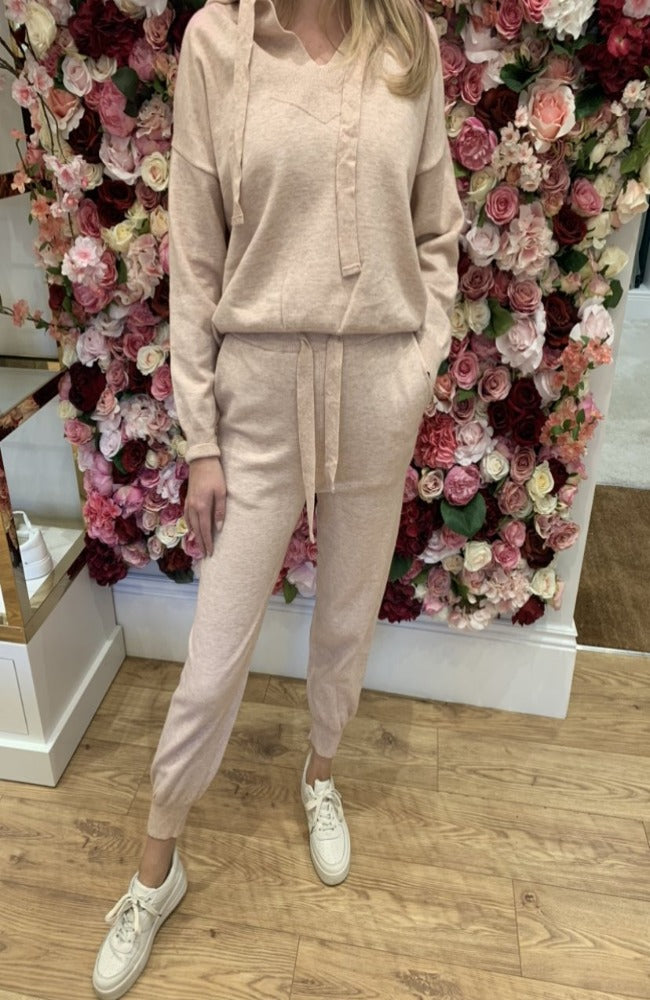 Exquiss Blush Pink Hooded Lounge Set