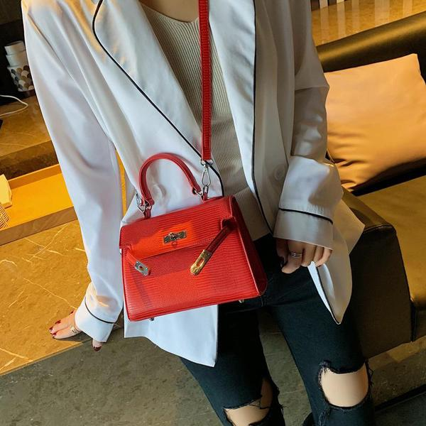 Birkin Style Red Hand Bag