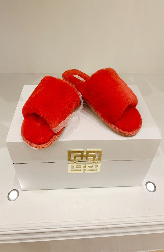 Super Soft Red Slippers