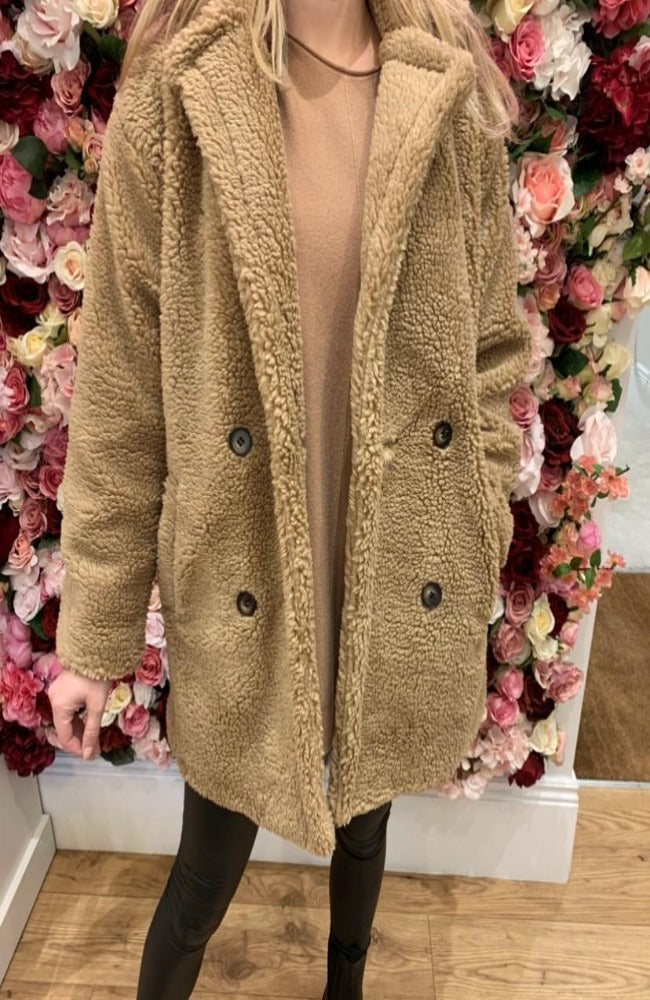 IVIVI Camel Teddy Coat