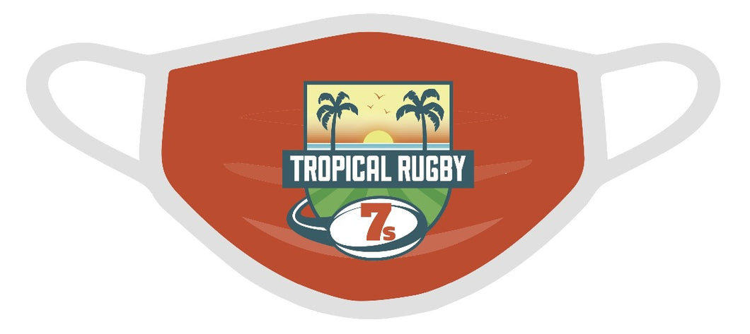 Tropical 7s Face Mask - Orange