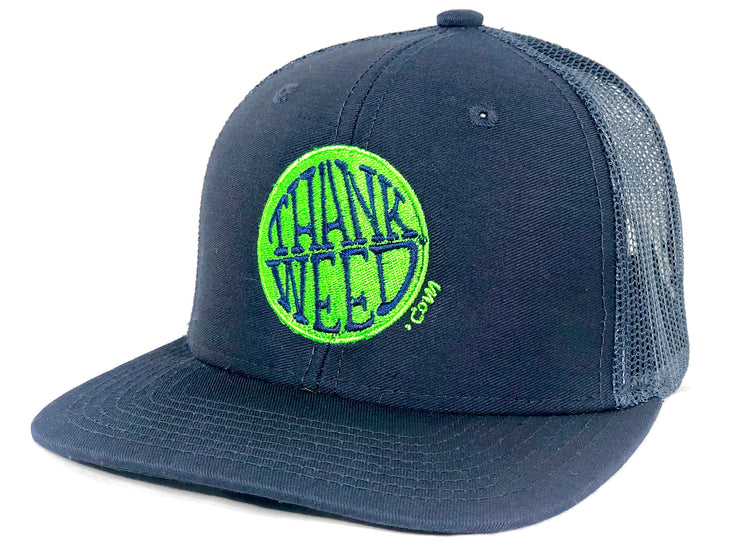 Thankweed Logo Snap Back Trucker