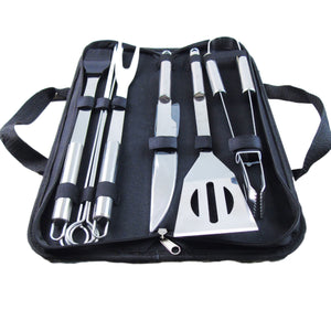 9Pc Stainless Steel BBQ Tools