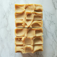 Load image into Gallery viewer, Fortune Hunter cold process soap. Made with turmeric, paprika, and essential oils