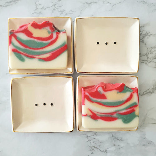 Holiday Gift Set - Soap Dish and Holiday Soap