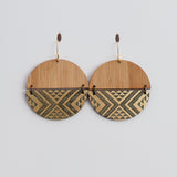 Earrings Bamboo Gold, Split tāniko I