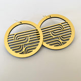 Earrings Gold, Whakarare circle