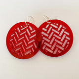 Earrings Red, Taki rua circle