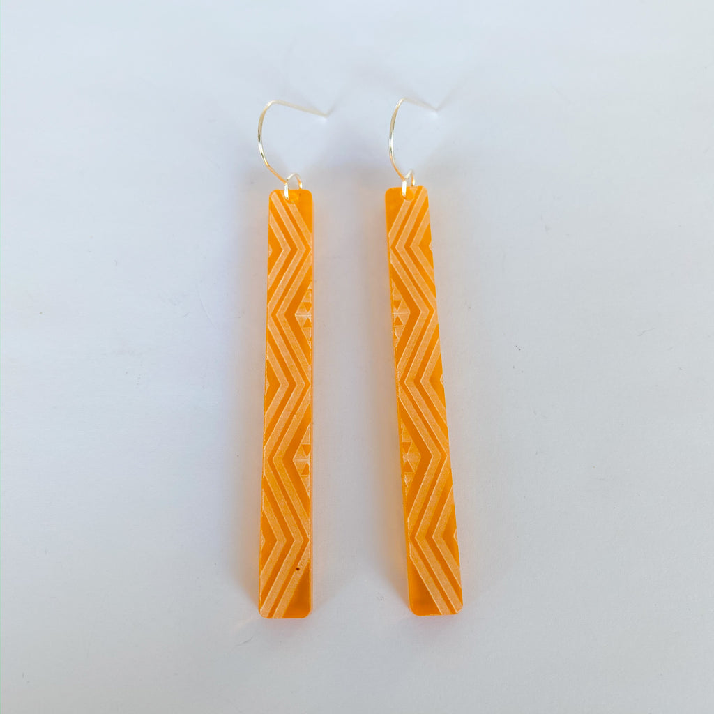 Earrings Orange tint, Kaokao long