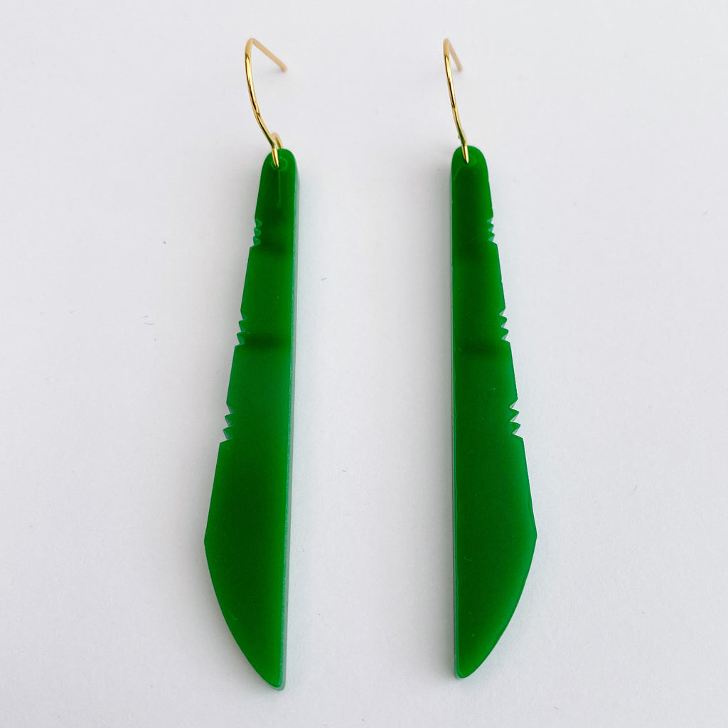 Earrings Green, Toki