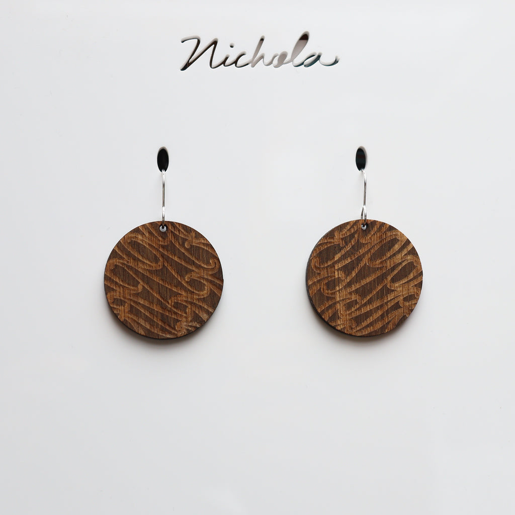 Earrings Bamboo stained, Puhoro