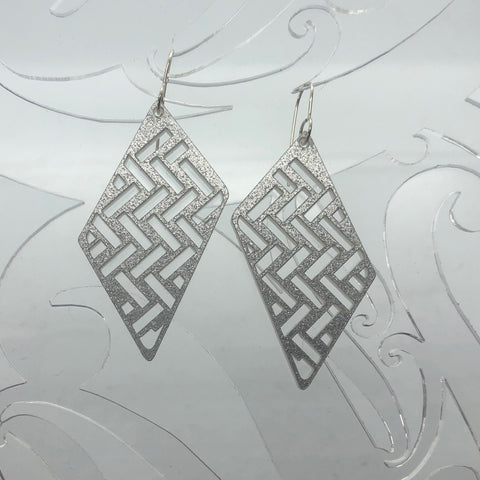 Earrings Taki Rua Diamond Silver Glitter