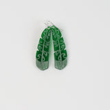 Earrings Green Tint, Te Raukura