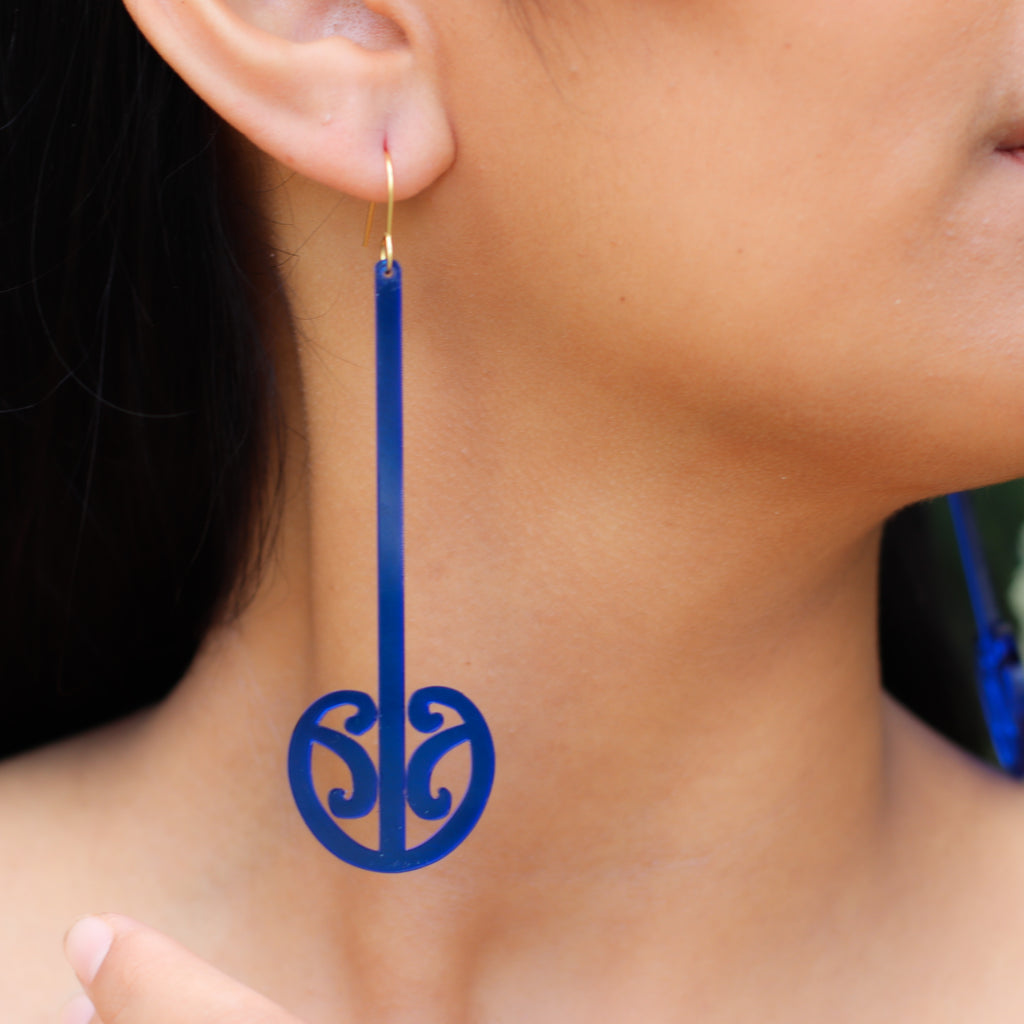 Earrings, Mangopare Statement