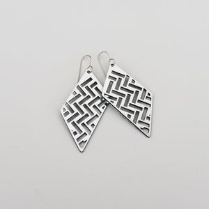 Earrings Taki Rua Diamond Silver - Sterling Silver Hook