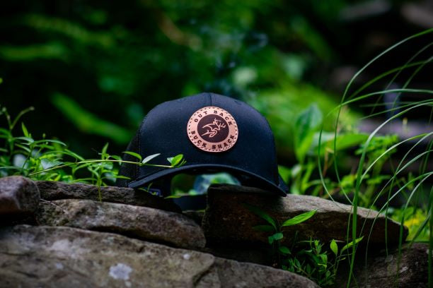 Leather Buck Shack Patch Trucker Hat (multiple colors available)