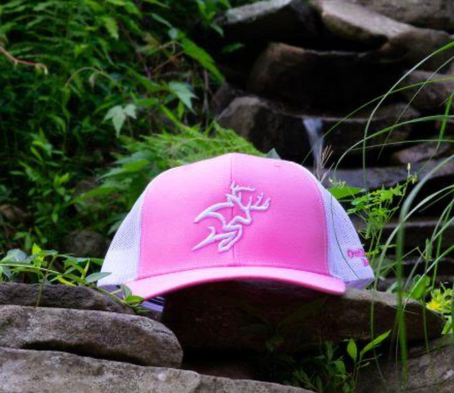 Breast Cancer Awareness Buck Logo Trucker