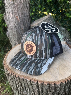 Original Realtree Camo Leather Patch Trucker
