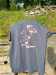 American Buck Made in the USA Charcoal Tshirt
