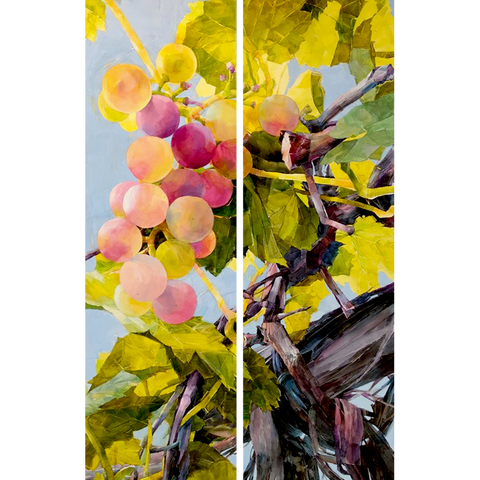 Grape Diptych