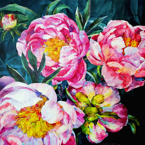 Midnight Peonies