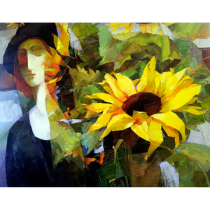 Portrait with Sunflowers