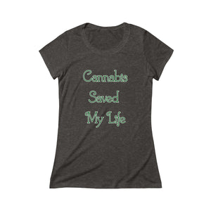 CANNA-SAVES! Triblend Short Sleeve Women's Tee