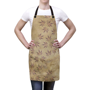 Hemp Leaf Stamps- Apron