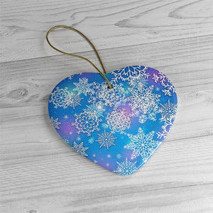 Dreamy Snowflakes- Ceramic Ornament