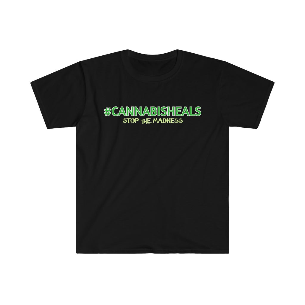 CANNABIS HEALS #420TRIBE- Men's Fitted Tee