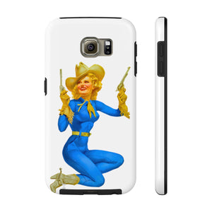 'Come and take'em', VINTAGE PIN UP COWGIRL- Case Mate Tough Phone Cases