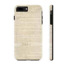 Load image into Gallery viewer, CONSTITUTION ARTICLE ii/III: Case Mate Tough Phone Cases