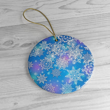 Load image into Gallery viewer, Dreamy Snowflakes- Ceramic Ornament