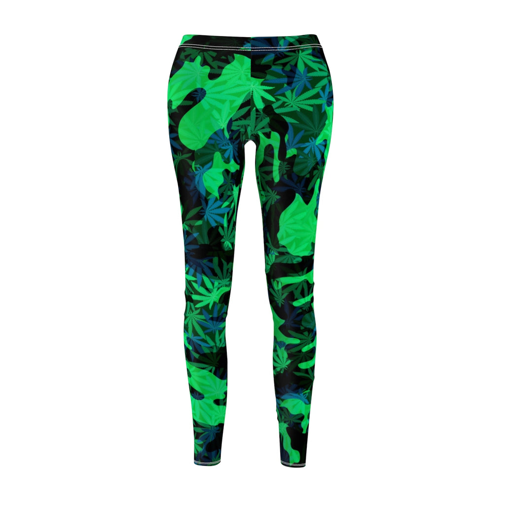 DARK BLUE-GREEN CANNAFLOUGE- Women's Leggings