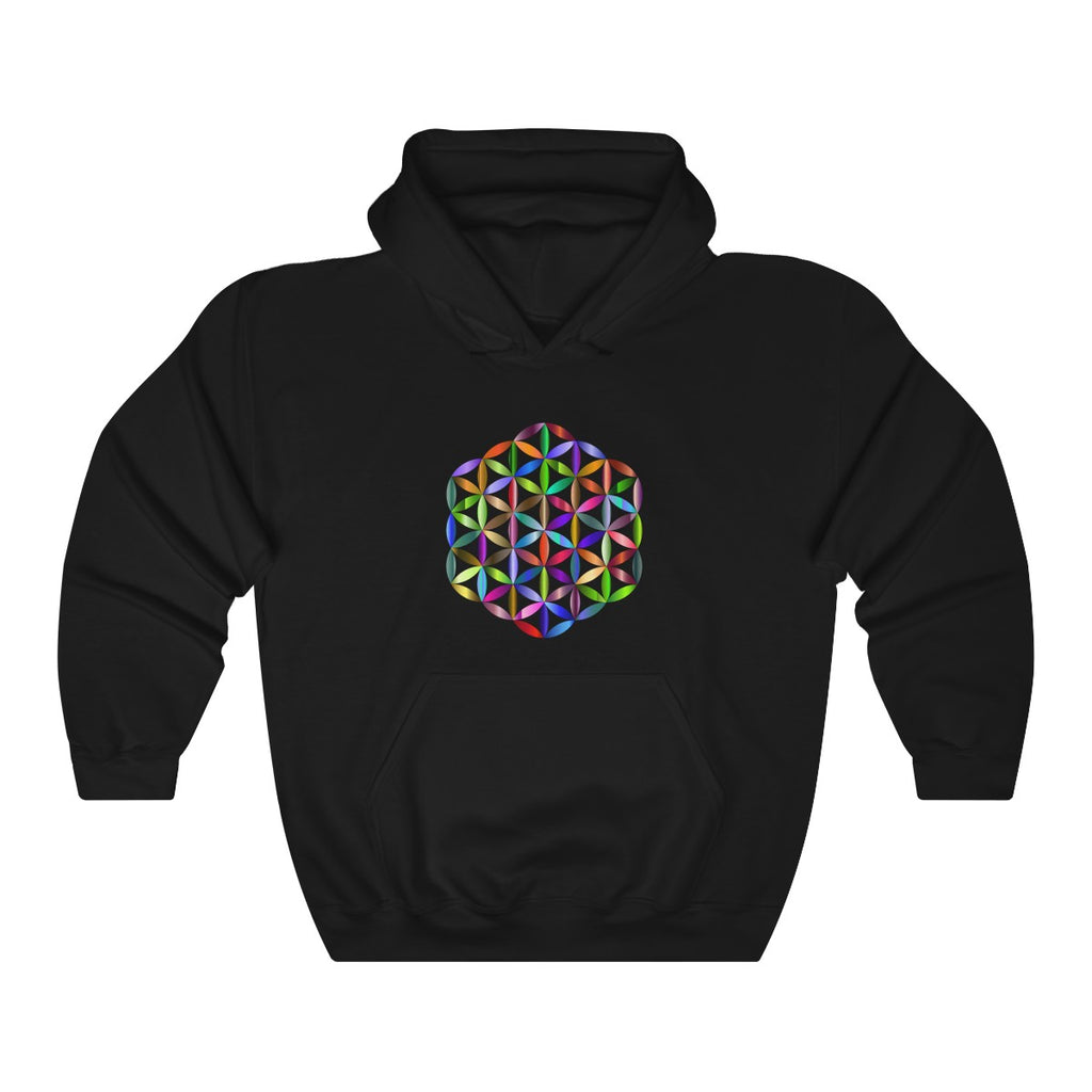 -Sacred Flower of Life- Heavy Blend™ Hooded Sweatshirt